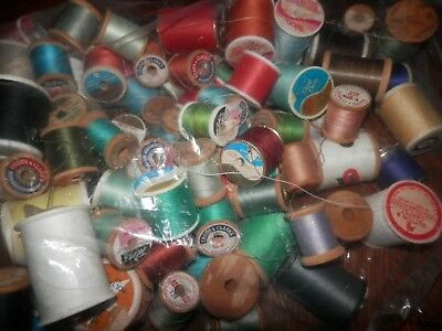 Huge Lot of Sewing Thread, Over 50 Spools, Some New