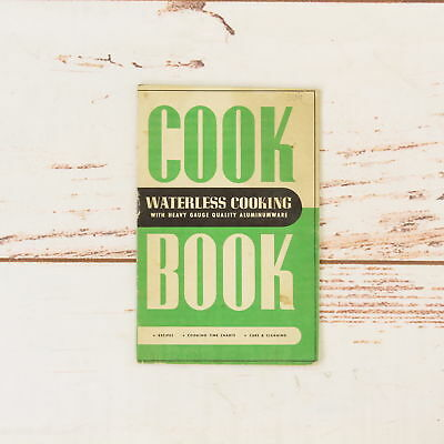 Vintage 1940's Marco Aluminum Cookware Promo Book Waterless Cooking