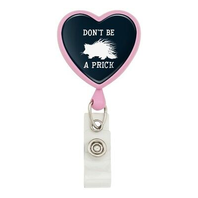 Porcupine Don/'t Be A Prick Funny Heart Love Metal Keychain Key Chain Ring