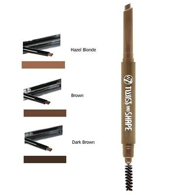 W7 Twist And Shape 2in1 Brow Pencil and Comb / Soft Pencil / 3 Colours Available