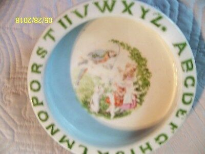 Antique  Alphabet Baby Child Ceramic Feeding Dish - Made in  Germany