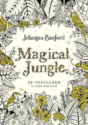 Magical Jungle 36 Postcards To Color And Send By Johanna Basford Author