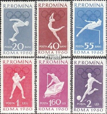 Romania 1847-1852 (complete issue) used 1960 OLympics Summer, R