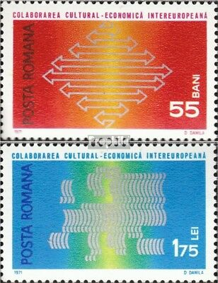 Romania 2919-2920 (complete issue) unmounted mint / never hinged 1971 INTEREUROP