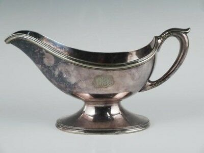 Elegant Antique c1900 Tiffany & Co Makers Silver Sp Soldered Gravy Boat