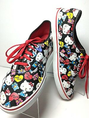658d733ff VANS Hello Kitty Shoes Sneakers Lace Up Off the Wall 3T75 Unisex Men 7  Women 8.5