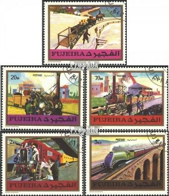 Fujeira 635A-639A (complete issue) used 1971 Railways