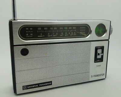 Vintage National Panasonic 2 Band 11-Transistor R-238R  Radio japanese 70s