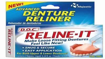 D.O.C. Reline-It Advanced Denture Reliner 2 Count in each box