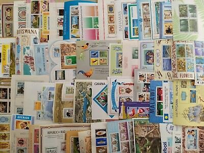 WORLDWIDE (150+ countries) MNH MINISHEETS - 750 ALL DIFFERENT - BIG COLLECTION