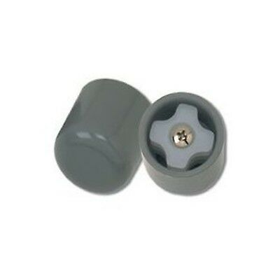 Drive Medical Deluxe Walker Glide Caps, Gray - 3 PAIRS New