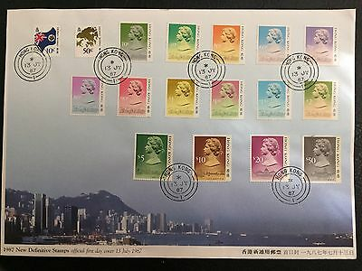 Hong Kong China Stamp 72007 F.D.C. 1987 07/13/87 New Definitive Stamps FDC