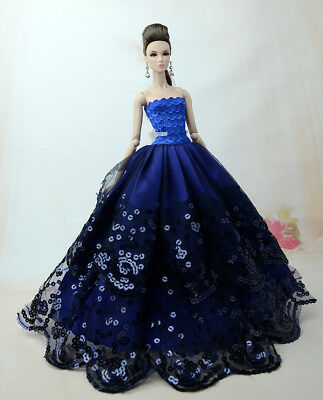 Fashion Royalty Blue Princess Evening Dress/gowns Ballgown  FOR Barbie Doll