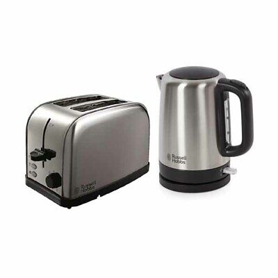 Russell Hobbs Stainless S 1.7L Cordless Kettle + 2 Slice Wide Slot Toaster Set