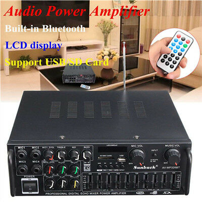 500W-2000W Bluetooth Digital Karaoke Stereo Home HIFI Audio Power Amplifier USB