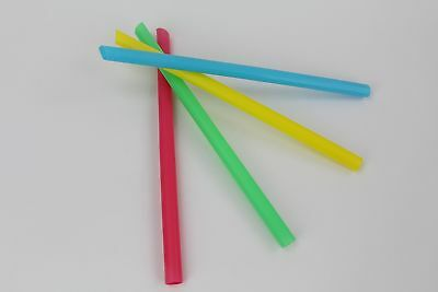 Large Milkshake Straws - Extra Wide Diameter - 40ct/Poly Bag. Cellophane ... New