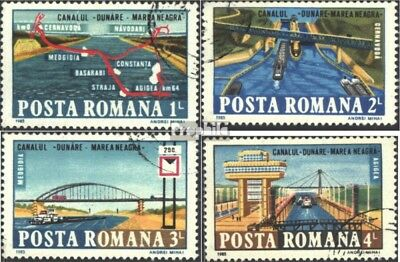 Romania 4144-4147 (complete issue) used 1985 Danube-black-Chann