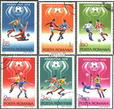 Romania 3506-3511 (complete issue) used 1978 Football-WM ´78, A