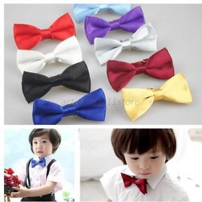 US Kids Baby Boy Child Stain Bow Ties Necktie Bowtie For Party Wedding Bowknot