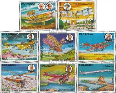 Paraguay 2929-2936 (complete issue) used 1977 History the Aviat