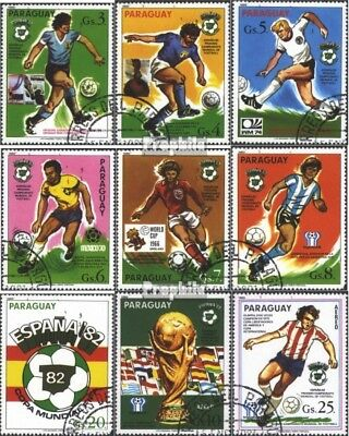 Paraguay 3327-3335 (complete issue) used 1980 World Cup 1982