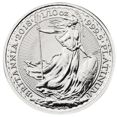 Britannia 1/10 oz Platinmünze 2018 zehntel Unze Platin 999.5 £10 Royal Mint UK