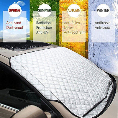 Car Windshield Snow Cover Winter Ice and Snow Protector Thickened with Wiper