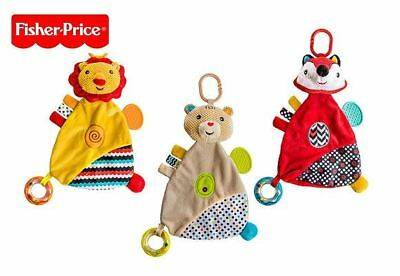 Fisher price Baby's doudou Rattle crinkle and teether Toy Assorted