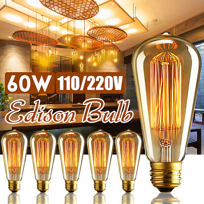 60W E27 Retro Vintage Industrial Edison Style Filamnet Glass Light Bulb