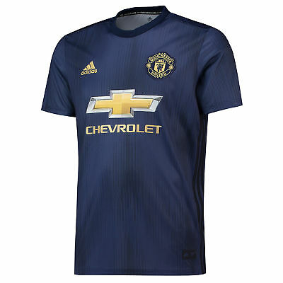 Official Manchester United Football Third Jersey Shirt 2018/19 Mens adidas