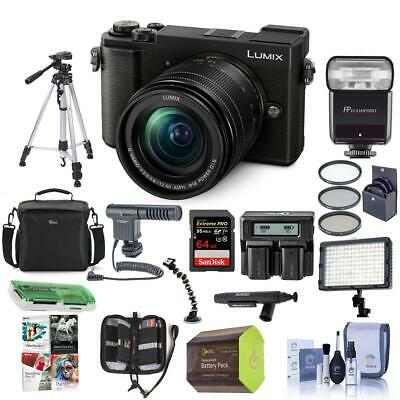 Panasonic Lumix DC-GX9 Mirrorless Camera with 12-60mm Lens Black And Pro Acc Kit
