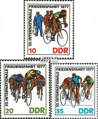 DDR 2216-2218 (complete.issue) used 1977 Peace Race