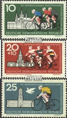 DDR 886-888 (complete.issue) used 1962 Peace Race