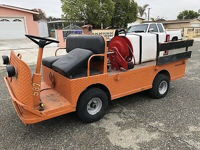 Taylor Dunn B2-48 Industrial Flatbed Electric Utility Cart Weed Sprayer