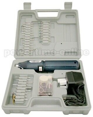 100Pc Cordless Dremel Type Mini Rotary Hobby Drill Tool + Case