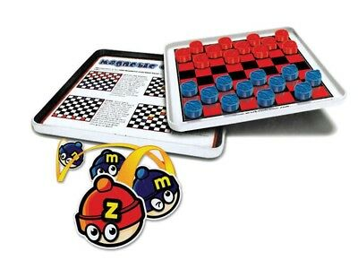 Magnetic Checkers In Tin Travel Game Board Novelty Toy Kids Brain Mind Hobby