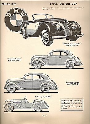 Revue Technique Automobile 41 Rta 1949 Salmson S4 61 1938 49 Bmw 320 321 326 327