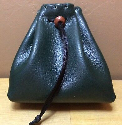 New Handmade Genuine Leather Small Dice Bag Coin Pouch Medicine Bag