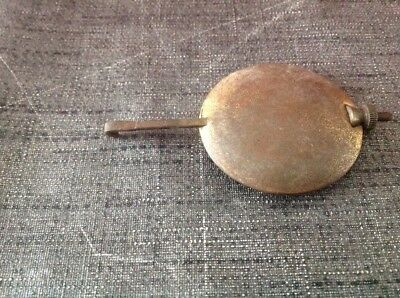 Antique Brass Pendulum 87g 43mm Diameter 80mm Long For Spare Parts