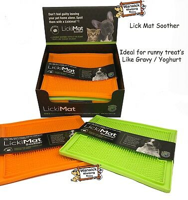 Dog Puppy Lickimat Lick Mat Soother Treat Boredom Buster Dogs & Puppies