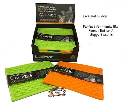 Dog Puppy Lickimat Lick Mat Buddy Treat Boredom Buster Dogs & Puppies