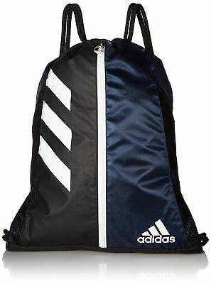 ADIDAS TEAM ISSUE Sackpack NWT Black White Silver Authentic NEW ... ed1a74250e