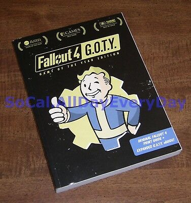 FALLOUT 4 GAME of the Year Edition Official Strategy Guide Book Prima Games  GotY