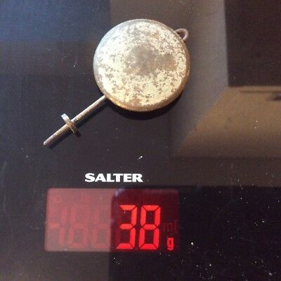 Antique Vintage BRASS Clock Pendulum Weight for spares/repairs/parts - 38g