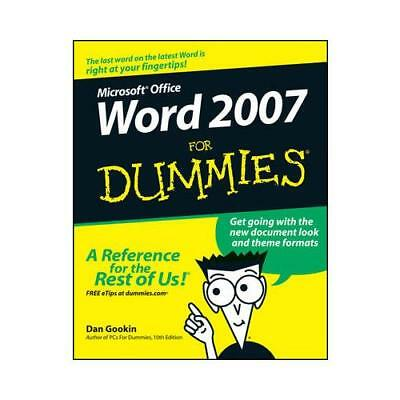 Word 2007 for Dummies by Dan Gookin (author)