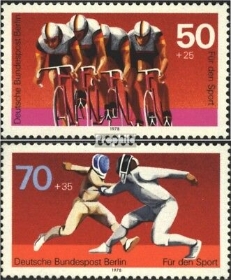 Berlin (West) 567-568 (complete.issue) used 1978 Sports Aid