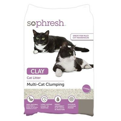 NEW So Phresh Multi-Cat Clay Clumping Cat Litter - 8kg