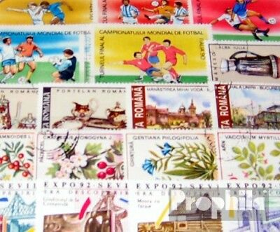 Romania 100 different special stamps
