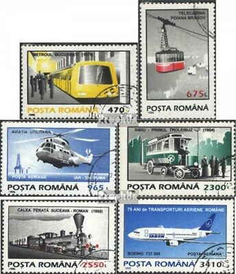 Romania 5087-5092 (complete issue) used 1995 clear brands: Tran