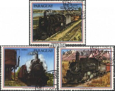 Paraguay 3994-3996 (complete issue) used 1986 Goods train locom